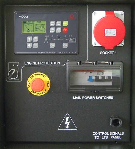 Überwachungsinstrumente Notstomaggregat